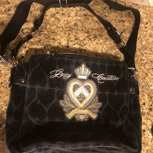 Juicy Couture velour Lap top bag